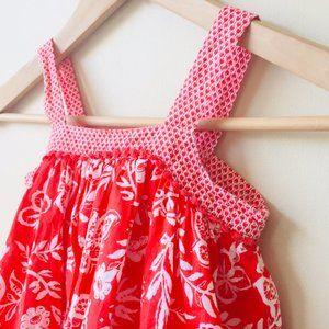 Baby Gap Orange Floral Boho Dress